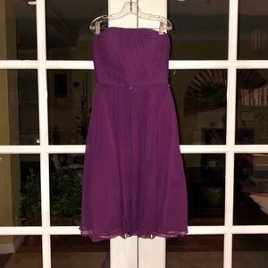 Donna Morgan Strapless Belted Chiffon Dress